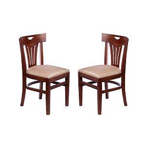 Conjunto - 2 Cadeiras Torres Estrutura em Madeira Maciça