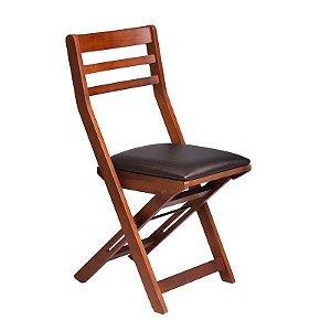 Cadeira Dobrável Lagoinha Estrutura em Madeira Maciça - Preto