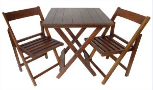 Conjunto POP - 2 Cadeiras e 1 Mesa Dobrável