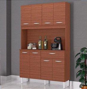 Armário de Cozinha 8 Portas 1 Gaveta Cassia Capuccino - Poquema