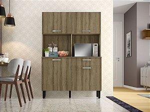 Armário de Cozinha 4 Portas 1 Gaveta KIT-120 4PT1GV Castanho - Itatiaia