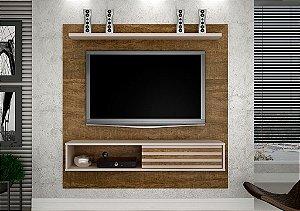 Painel TV até 50 Polegadas Arizona Ipê/Off White - Valdemóveis