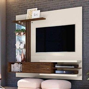Painel TV até 55 Polegadas Frizz Supreme Off White/Savana- Madetec