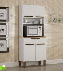 Armário de Cozinha 4 Portas 1 Gaveta Turim Branco - Sallêto