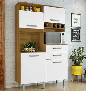 Armário de Cozinha 4 Portas 2 Gavetas JR Freijo/Branco - Nesher