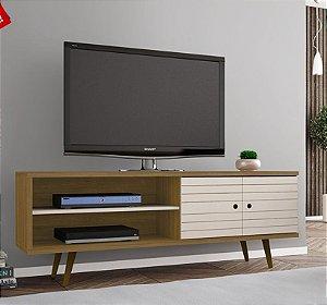 Rack para TV até 60 Polegadas Onix Cinamomo/Off White - Bechara
