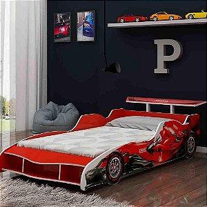 Cama Infantil Carro F1 090 Vermelho - Gelius