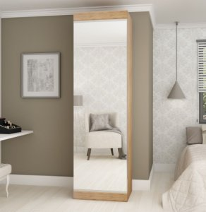 Sapateira 1 Porta com Espelho Esmeralda Madeirado - Gelius