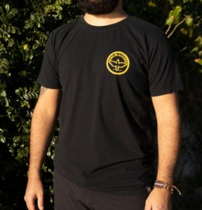 Camiseta Logomarca Enfim Livres - Preta