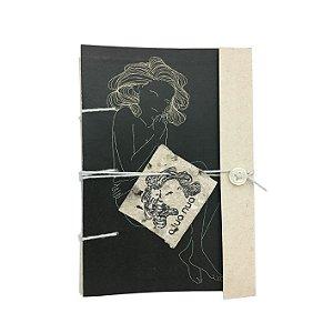 Caderninho Artesanal - Estampa Digital - Linha Lua - A6