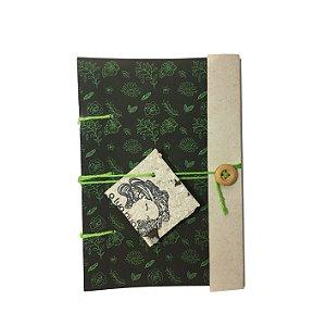 Caderninho Artesanal - Estampa Digital - Linha Flora - A6