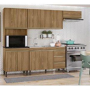 Cozinha Modulada Karen 7400 Com 4 Módulos Nature Peternella Moveis