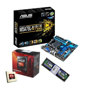 KIT PLACA MÃE ASUS M5A78L-M PLUS + AMD FX 8320 E + MEMÓRIA KINGSTON 4GB DDR3P