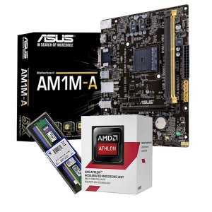 KIT ASUS AM1M-A/BR + ATLHON 2650 + MEMORIA KINGSTON 4GB DDR3