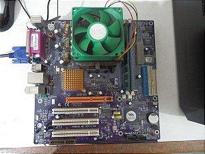 KIT ECS K8M800-M2 + PROCESSADOR AMD SEMPRON 2600 + 1Gb DE MEMÓRIA DDR400