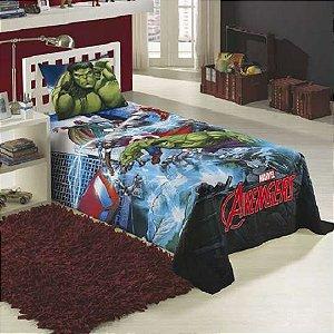 Jogo de Cama Solteiro Estampado Avengers 1,50 m x 2,10 com 03 peças