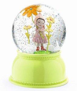 Luminária Menina e Flor