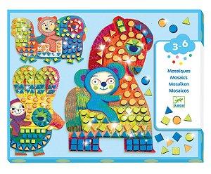 Colagem com mosaico - Animais Imaginários