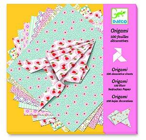 Origami - Folhas decoradas Pastel