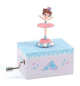 Pequena Caixa de Música Manual - Bailarina