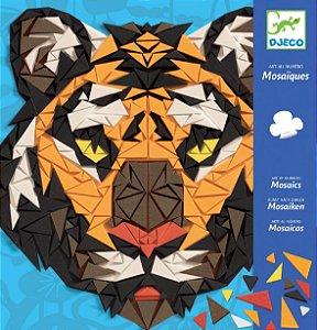 Colagem com Mosaicos - Tigre e Gorila
