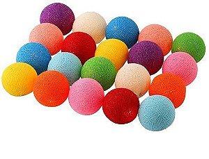 Luz bolinha cotton colorida