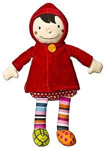 Boneca Chapeuzinho Vermelho em tecido