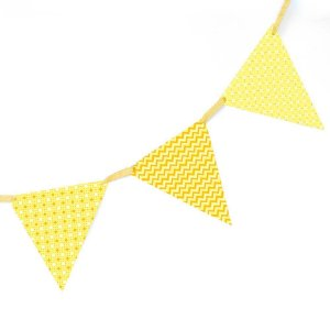 Bandeirola de Papel - amarela