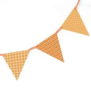 Bandeirola de Papel - laranja