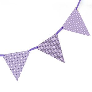 Bandeirola de Papel - violeta