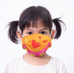 Máscara Kids Monstra Laranja