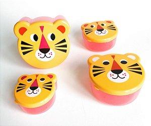 Conjunto de Potes - Animais Tigre