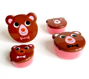 Conjunto de Potes - Animais Urso