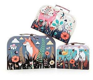 Trio de maletas Floresta