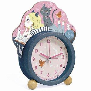 Despertador Menina e Gato