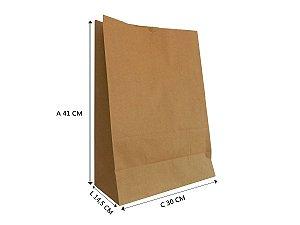 Saco de Papel Kraft G 30x14,5x41 cm - 50 unidades