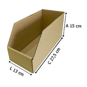 Caixa De Papelão Organizadora Estoque Prateleira  27,5x13x15 - 25 un