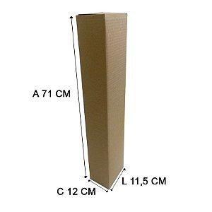 Caixa de Papelão Tubo 11,5x12x71 cm 10 unidades