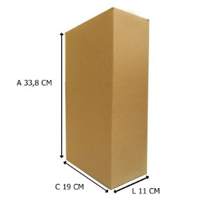 caixa de Papelão 19x11x33,8 cm 25 unidades