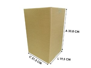 Caixa de Papelão 21,5x19,5x33,8 cm - 10 unidades