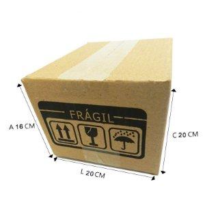 25 Caixas de Papelão B°5 20x20x16 cm