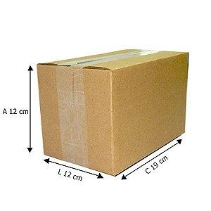 50 Caixas de Papelão D º3  19x12x12 cm
