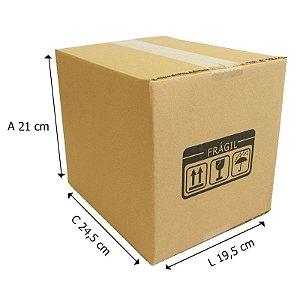 25 Caixas de Papelão Dº7 24,5x19,5x21 cm