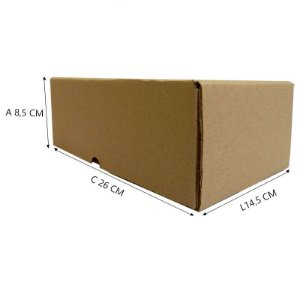 25 Caixas Papelão Bº3 Sedex - C 26 X L 14,5 X A 8,5 cm