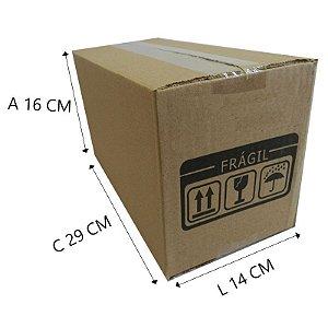25 Caixas Papelão D º17  29x14x16 cm