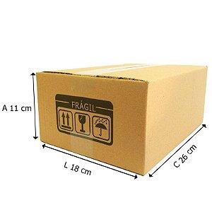 25 Caixas de Papelão Dº20 26x18x11 cm