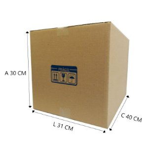 Caixa de Papelão E°2 40x31x30 10 unidades