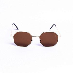 Óculos Rich Summer Tokyo Marrom com Dourado