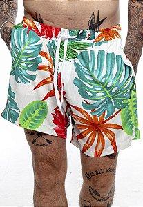 Shorts Rich Summer Floral Branco