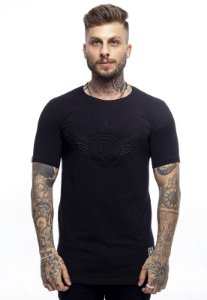 Camiseta Long Rich Summer Asa Preta